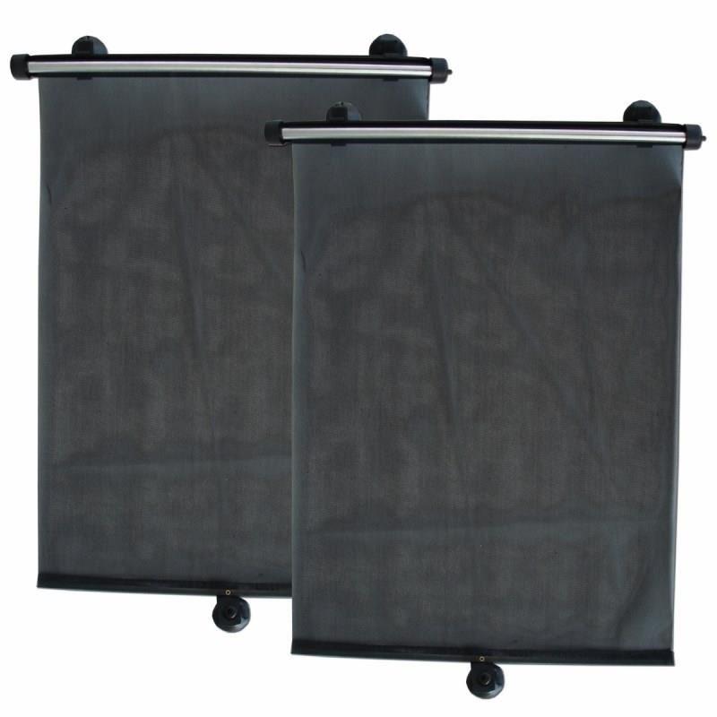 Jaluzele luneta/geamuri laterale-spate RoGroup, negru, 2 bucati