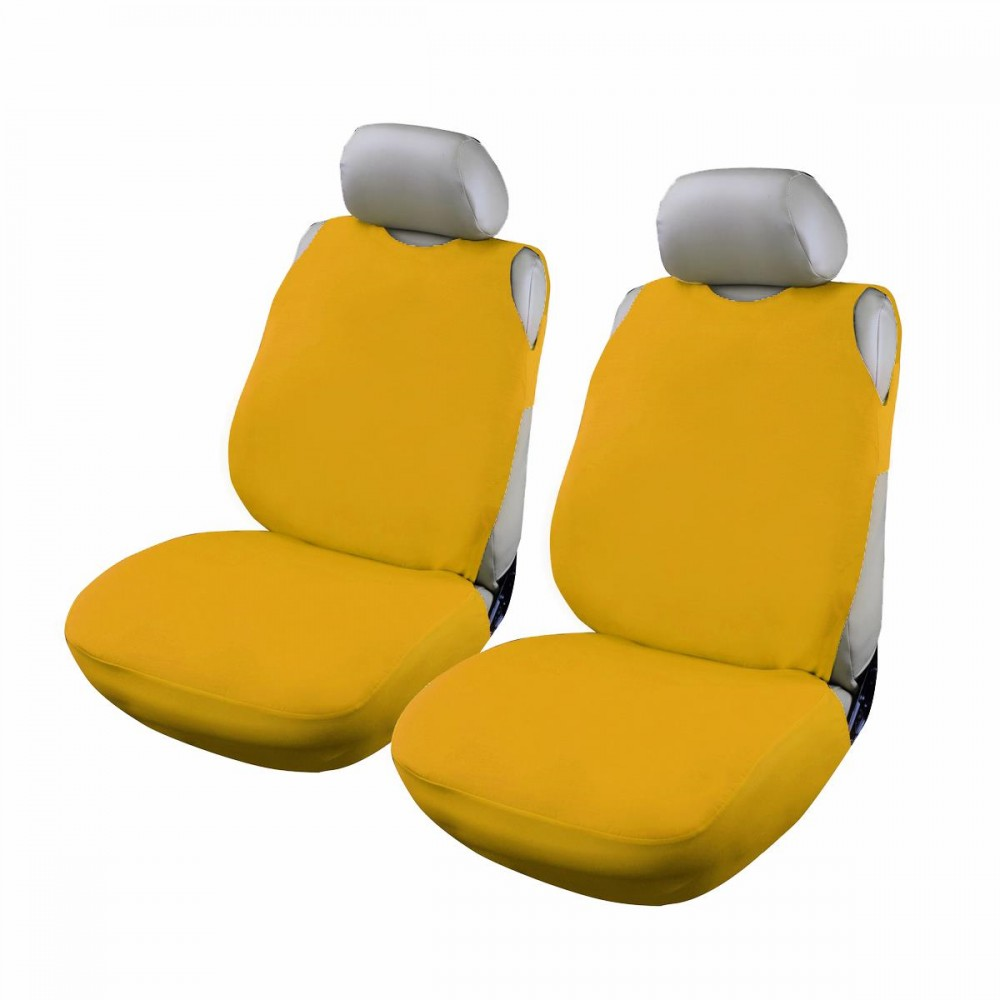 Huse scaun auto RoGroup tip maiou, galben, 2 bucati