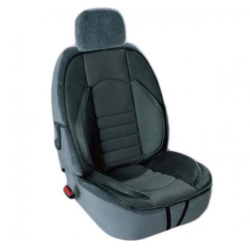 Husa scaun suport lateral, catifea si material textil, negru, 110 cm x 54 cm, 1 buc