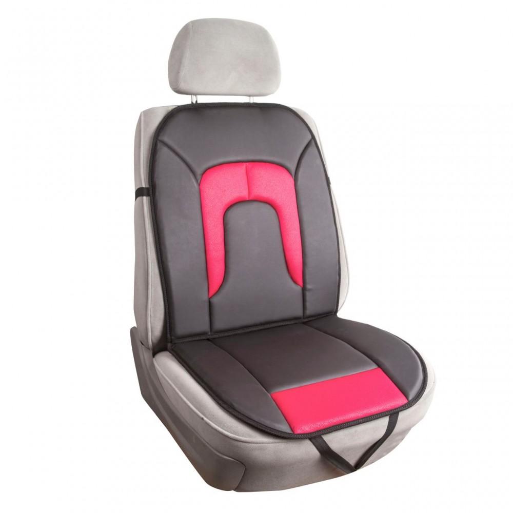 Husa scaun, piele ecologica si material textil, negru cu grena, 99 cm x 46 cm, 1 buc