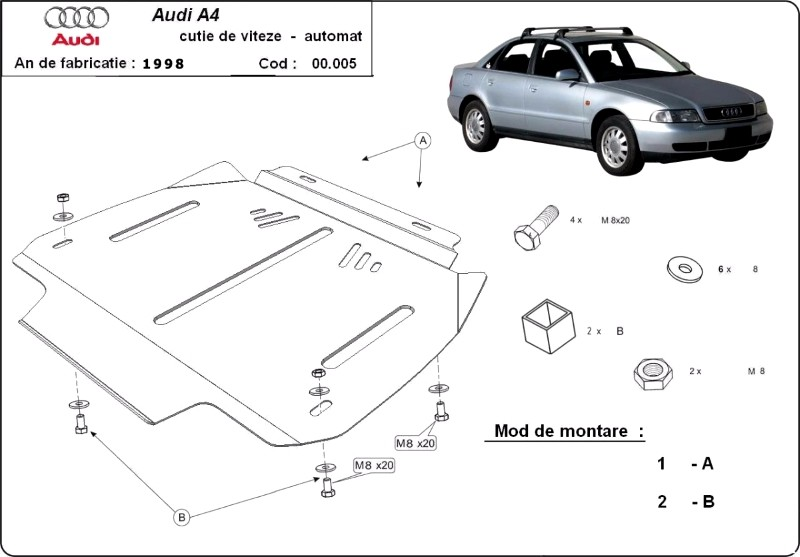 Scut cutie de viteze automata AUDI A4 1, an 1995 - 2000