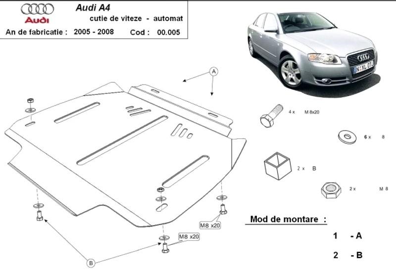 Scut cutie de viteze automată Audi A4 3, an 2005 - 2008