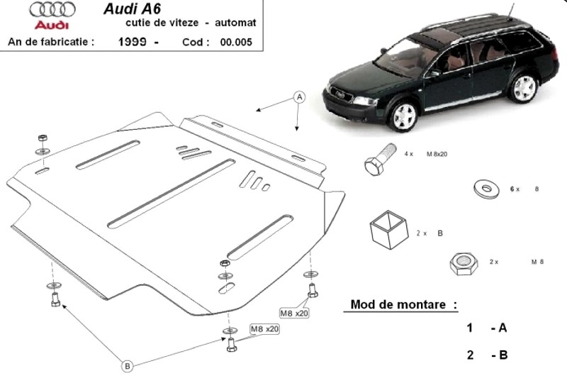 Scut cutie de viteze automata Audi A6, an 1997 - 2004