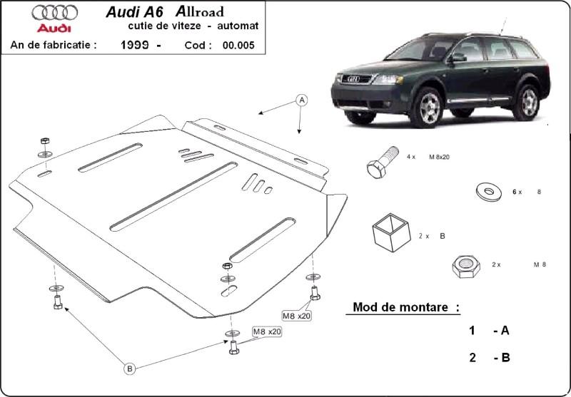 Scut cutie de viteze automată Audi Allroad, an 2000 - 2005