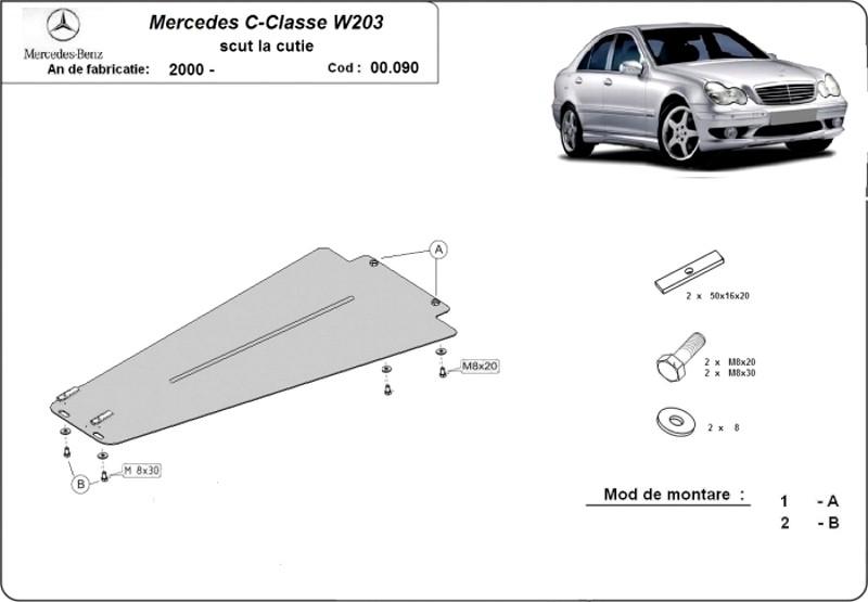 Scut cutie de viteze automată Mercedes C-Classe W203, an 2000 - 2007