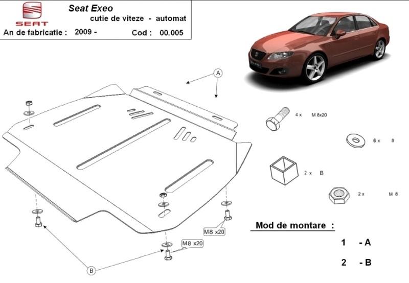 Scut cutie de viteze automată Seat Exeo, an 2009 - 2016
