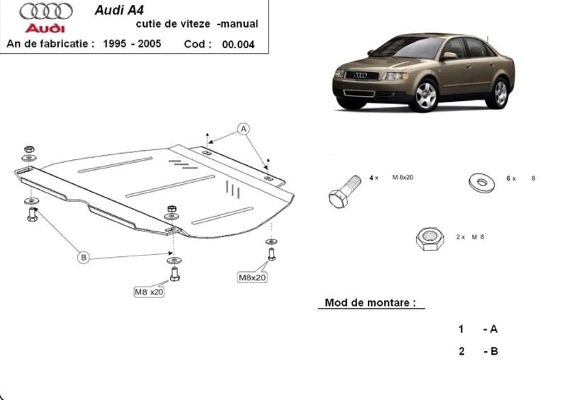 Scut cutie de viteze manuală Audi A4 2, an 2000 - 2005