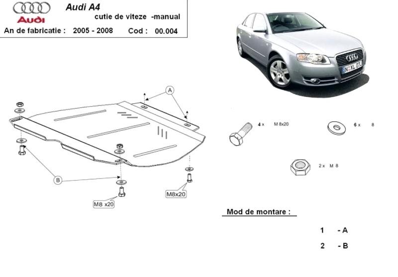 Scut cutie de viteze manuală Audi A4 3, an 2005 - 2008