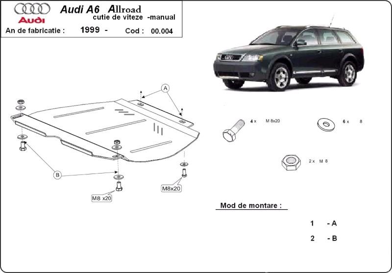Scut cutie de viteze manuală Audi Allroad, an 2000 - 2005
