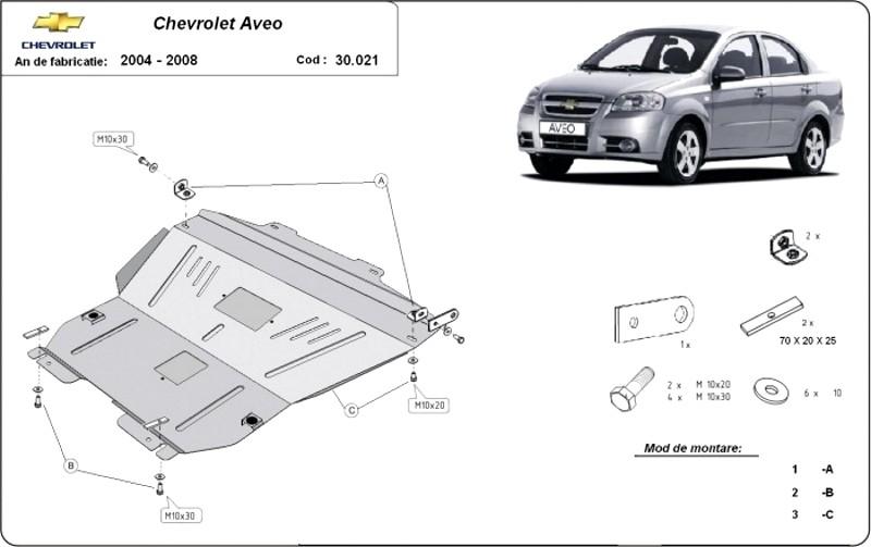 Scut motor Chevrolet Aveo, an 2004 - 2008