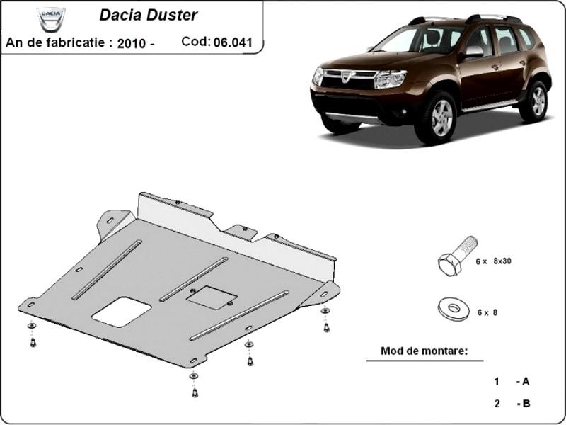 Scut motor Dacia Duster, an 2010 - 2016