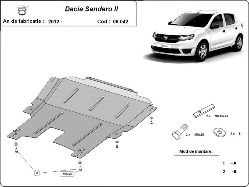 Scut motor Dacia Sandero 2, an 2012 - 2016