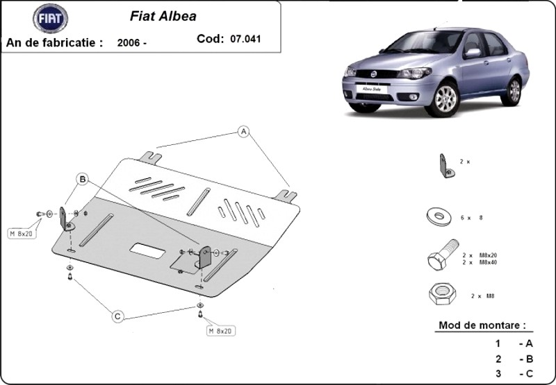 Scut motor Fiat Albea, an 2006 - 2016