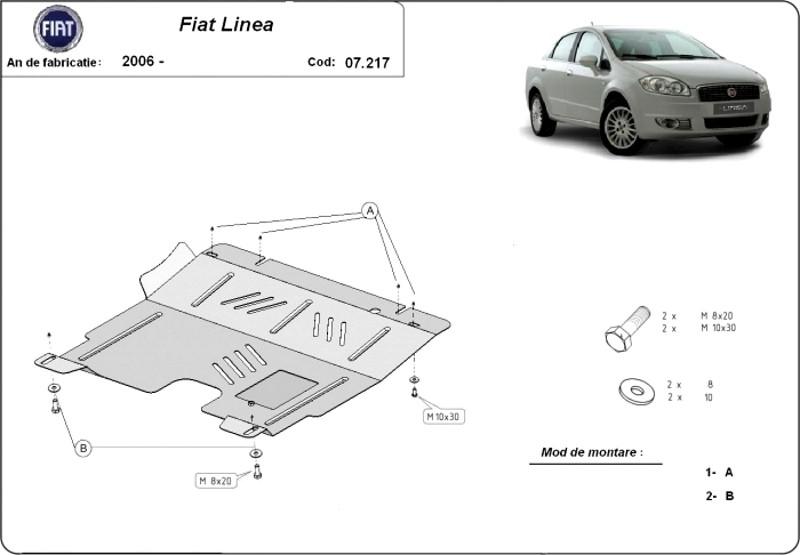 Scut motor Fiat Linea, an 2006 - 2016