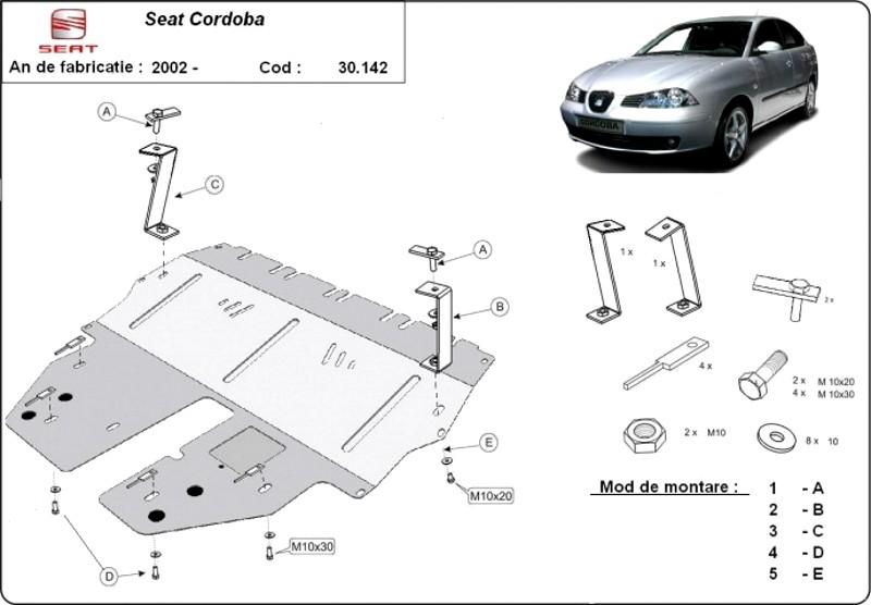 Scut motor Seat Cordoba, an 2002 - 2010