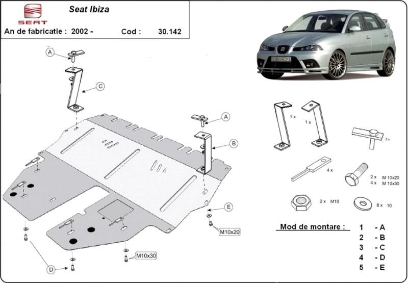 Scut motor Seat Ibiza, an 2002 - 2016, 1.4,1.6