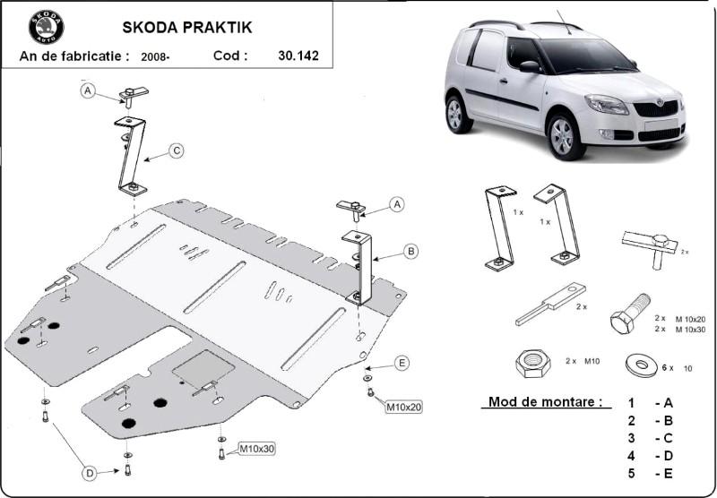 Scut motor Skoda Praktik, an 2008 - 2016